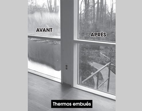 Les avantages vitrerie justalex for Reparation de fenetre thermos