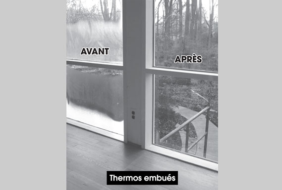 Les avantages vitrerie justalex for Reparation de fenetre thermos
