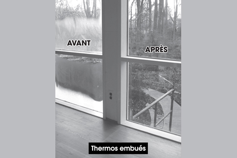 Vitrerie Justalex vitre thermos